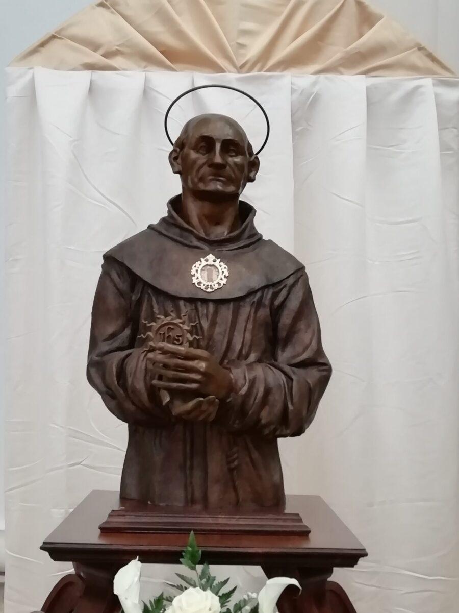Benedizione del busto reliquiario di San Bernardino